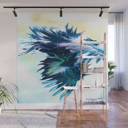 Blue Dragon Dances Wall Mural