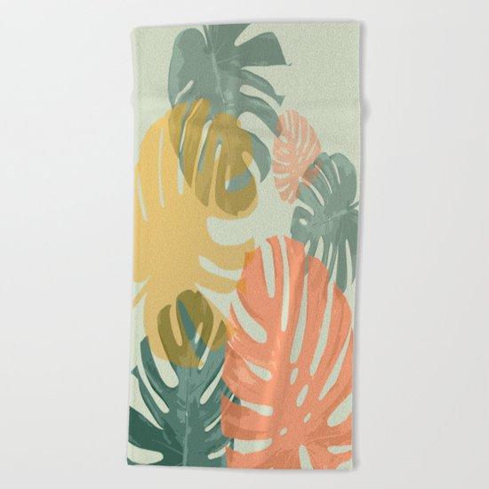 Monstera Pop Beach Towel
