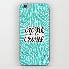 Crème de la Crème – Turquoise iPhone Skin