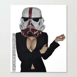 Office Trooper Canvas Print