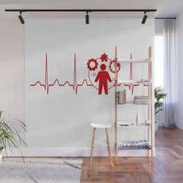Project Manager Heartbeat Wall Mural
