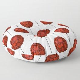 Rise Up - Little Red Balloon - Love - Children - 57 Montgomery Ave Floor Pillow