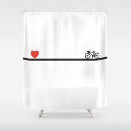 LOVE CHASE Shower Curtain