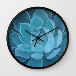 Green Succulent Wall Clock