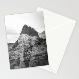 Melting into Mountains - Arches National Park - Holga Double Exposure Stationery Cards