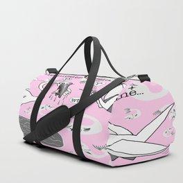 real crane meets origami crane Duffle Bag