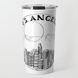 Los Angeles city in a glass ball 2  Home Decor Graphicdesign Travel Mug