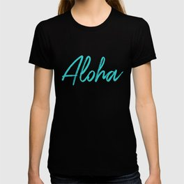 Aloha in Tropical Blue T-shirt