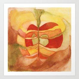Watercolor Abstract Apple Art Print
