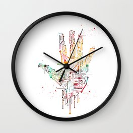 Circuit Hand Wall Clock