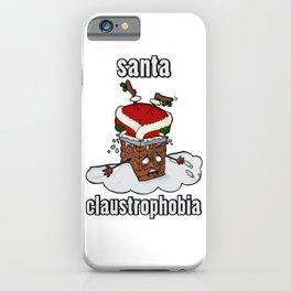Santa Claustrophobia iPhone Case