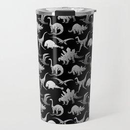 Black and White Dinos Travel Mug