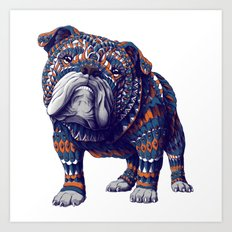 English Bulldog (Color Version) Art Print