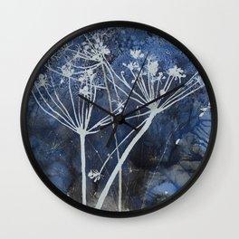 Night cow parsley Wall Clock