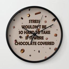 Falling chocolates Wall Clock