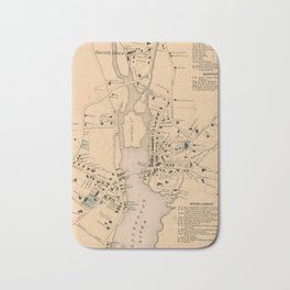 Vintage Map of Westport CT (1867) Bath Mat
