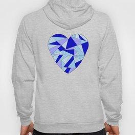 Fractal Blue Heart Hoody
