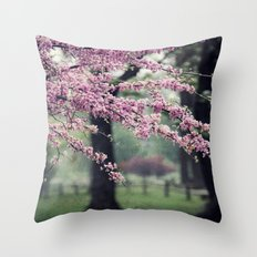 Blossoms for the Road ahead Throw Pillow