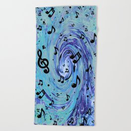 Musical Blue Beach Towel