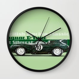 Silverstone Jaguar D-Type Wall Clock