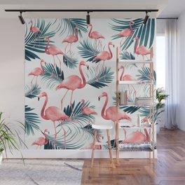 Summer Flamingo Palm Vibes #1 #tropical #decor #art #society6 Wall Mural