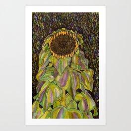 Klimt Sunflower Art Print