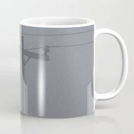 Telephone Pole in the Fog Coffee Mug
