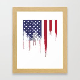 American Flag Tees: USA Patriotic For US Men Women Kids Distressed Framed Art Print