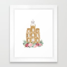 Logan Utah Temple Framed Art Print