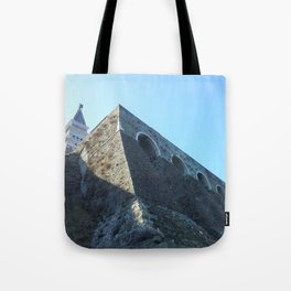 Church on the cliff Tote Bag