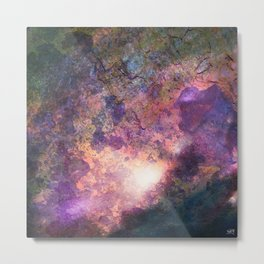 Rebirth | Galaxy Abstract Painting Metal Print