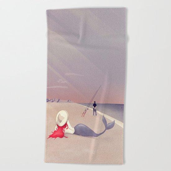 Keep Fishing Beach Towel