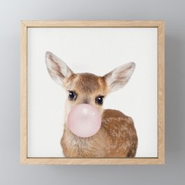 Bubble Gum Baby Deer Framed Mini Art Print