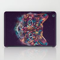 space cat iPad Cases featuring Space Cat by dan elijah g. fajardo