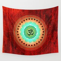 om Wall Tapestries featuring Om 3 by Tara Catalano Studios