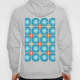 Abstract retro circle design, vintage circles 3 size pattern Hoody