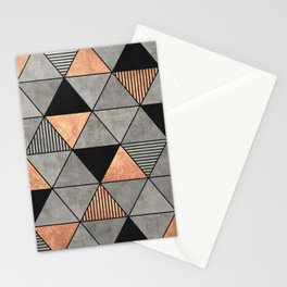 Concrete and Copper Triangles 2 Stationery Cards