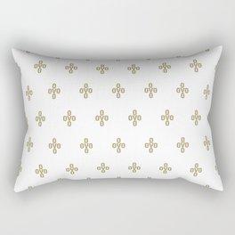 Pom Pom - White Rectangular Pillow
