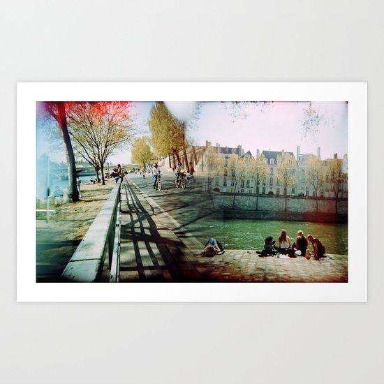 Paris in the Spring Time 2 Art Print