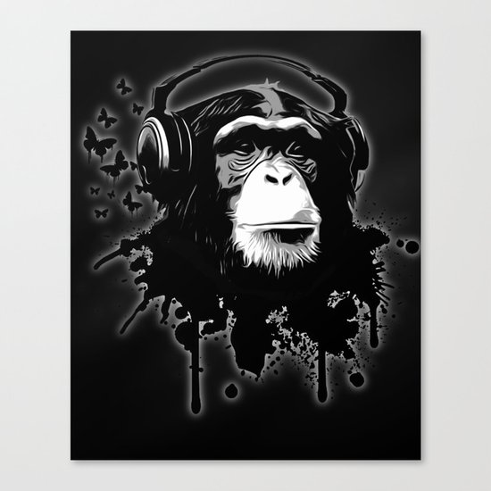 Monkey Business - Black Canvas Print