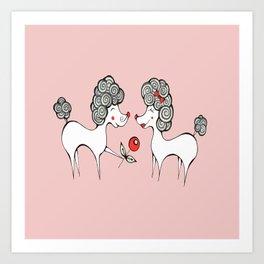 Poodle Love Art Print