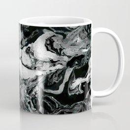 Black and white Marble texture acrylic paint art Coffee Mug