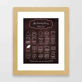 The Laundry Room Fabric Care Guide - Pink Framed Art Print