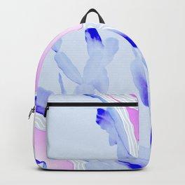 Blue Agate Slice Cacti Pattern Backpack