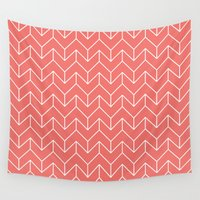 chevron Wall Tapestries featuring Chevron by Dizzy Moments
