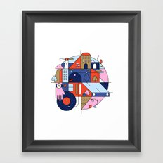 City Tram Framed Art Print