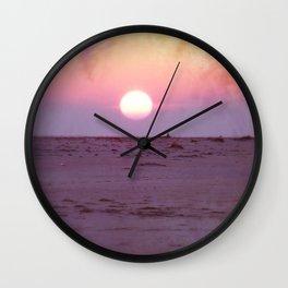 Gulf Islands Sunset Wall Clock
