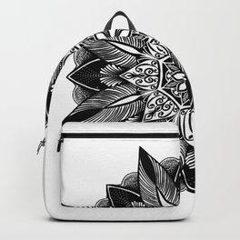 Geometric Mandala Flower. Backpack