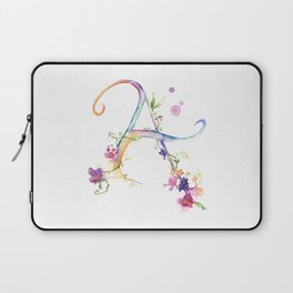 Letter A - Monogram Initial Laptop Sleeve