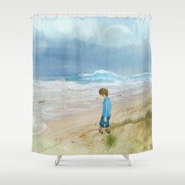 A Boy And His Beach Shower Curtain